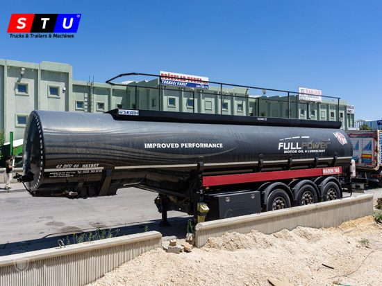 USED FUEL TANKER TRAILER, PETROL TANKER, 3 COMPARTMENTS, STU TRAILERS, TURKEY